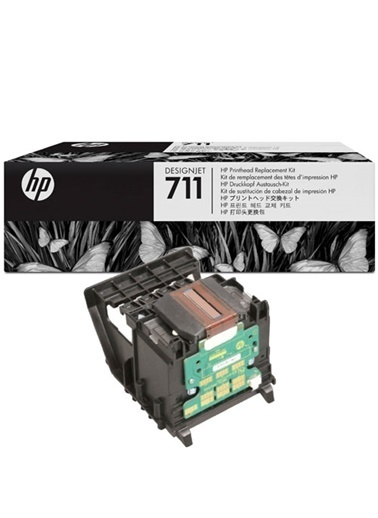 HP 711 Orjinal Designjet Baskı Kafası C1Q10A Renkli